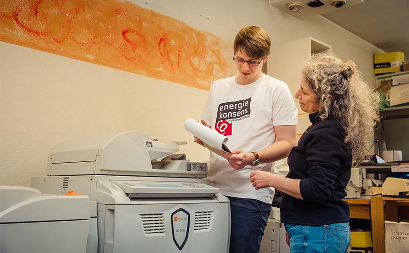 Quartiers-Projekt foot:print in Gröpelingen gestartet: Ein Besuch bei copyPLUS