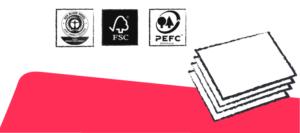 Siegel für umwelt- und klimafreundliches Papier