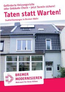 Gebäudecheck und Heizungsvisite in Walle gefördert